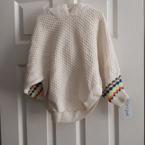 NWT Cat & Jack poncho pullover sweater